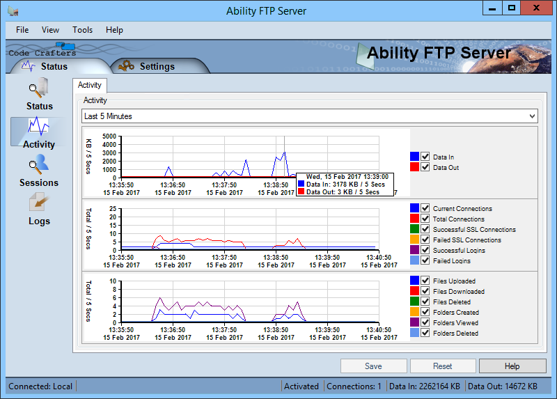 Click to view Ability FTP Server 2.1.2 screenshot